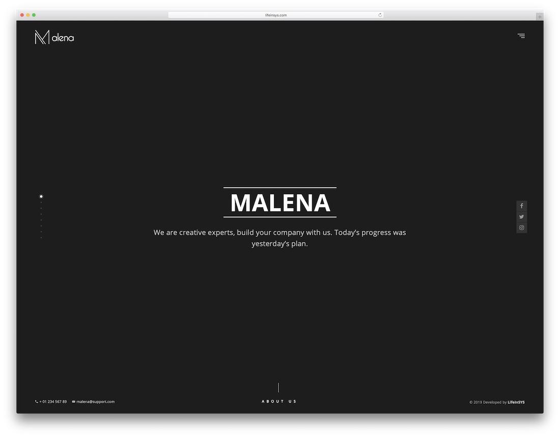 malena bootstrap portfolio website template