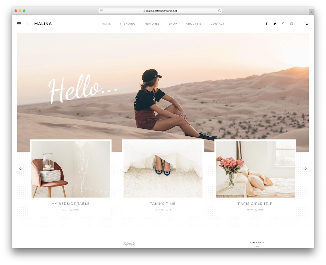 malina adsense optimized wordpress theme