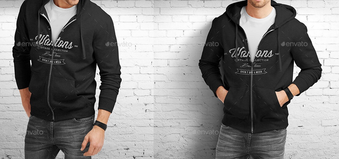 3d5dad483b0a 20 Free and Premium Hoodie PSD Mockup Templates in 2019 - Colorlib