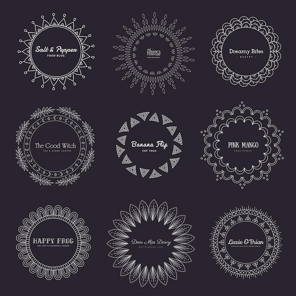 mandala logos dark