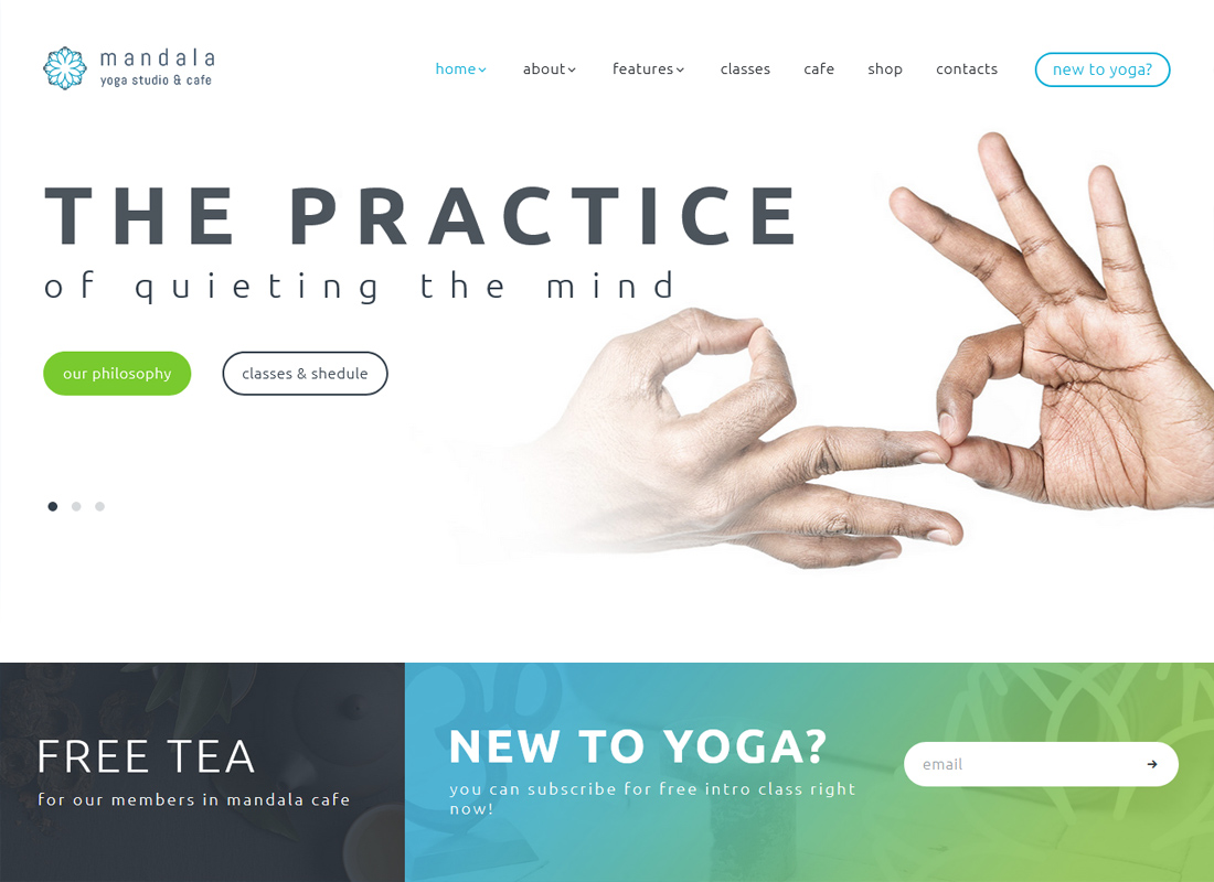 Mandala - Yoga Studio and Wellness Center WordPress Theme