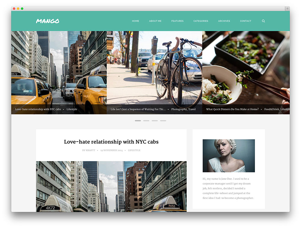 mango - clean blogging theme