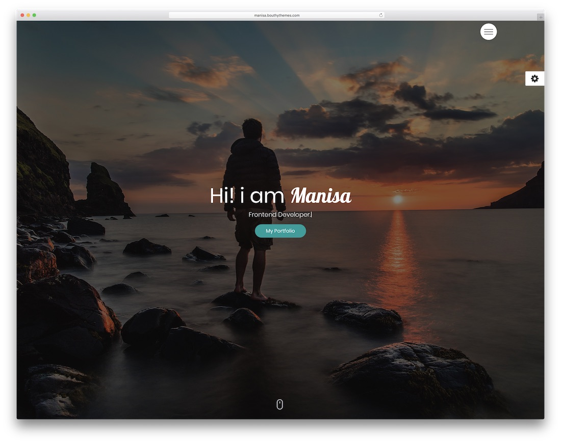 manisa bootstrap personal website template