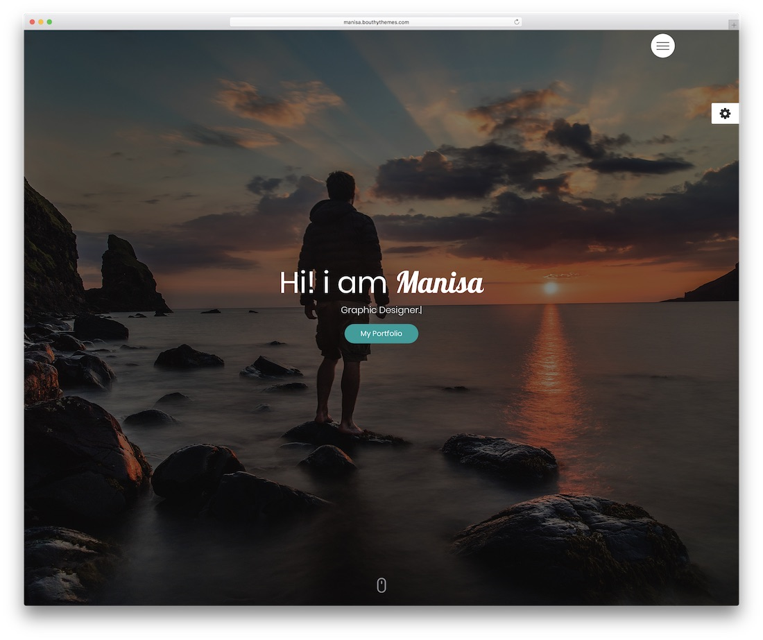 manisa personal website template