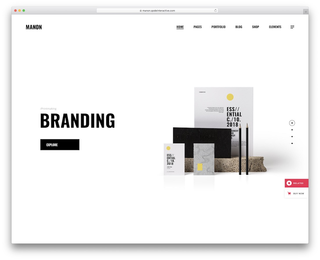 manon artist website template