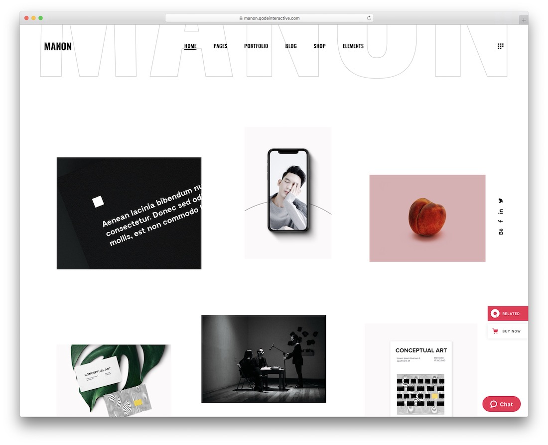 manon graphic design website template
