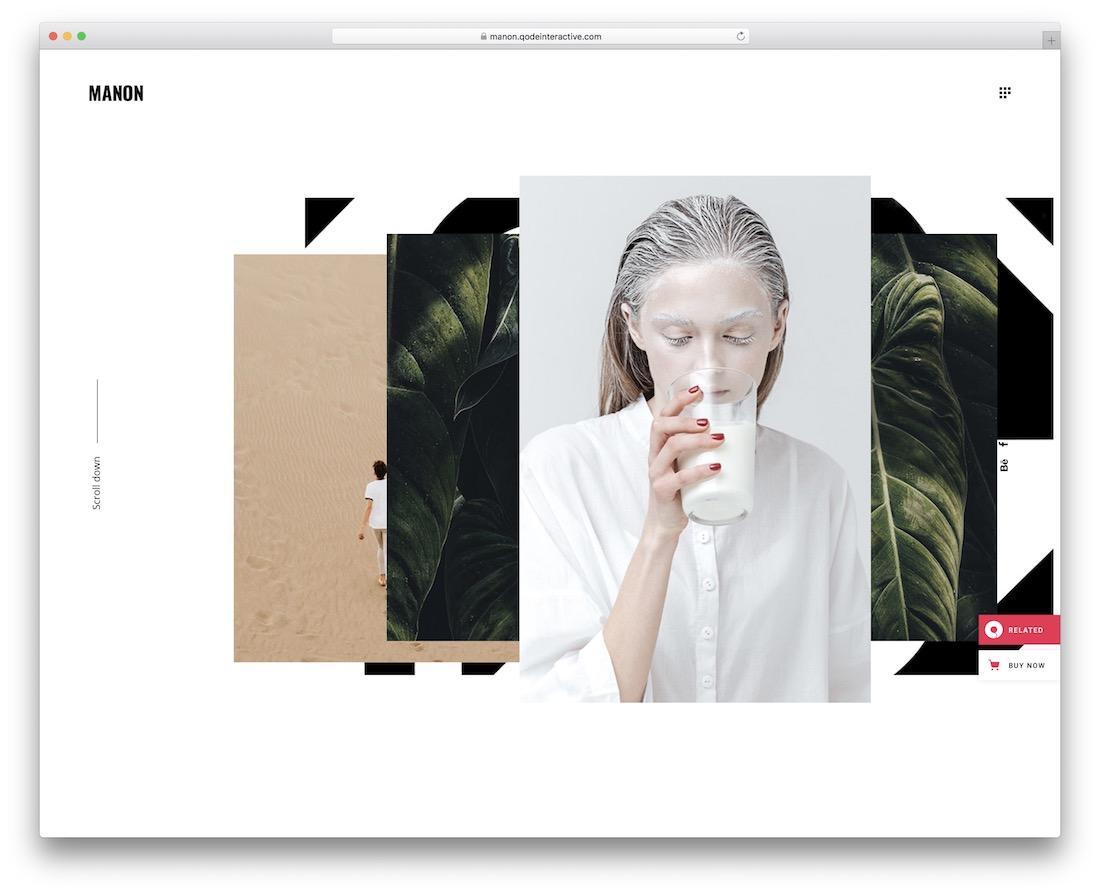 manon portfolio website template