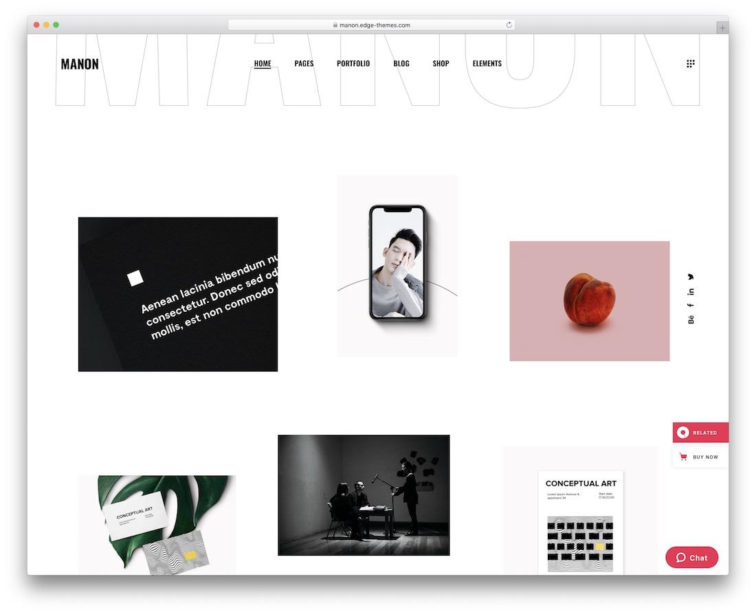 manon simple wordpress theme