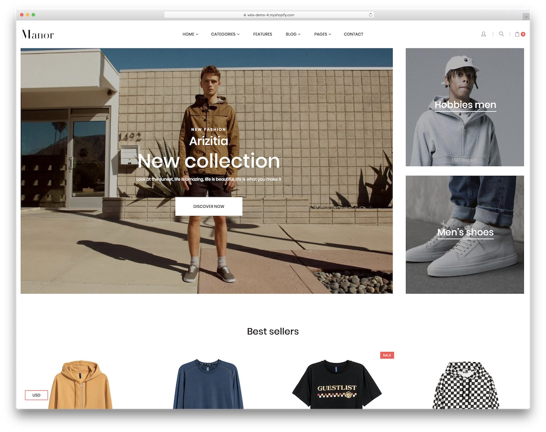 manor best shopify theme