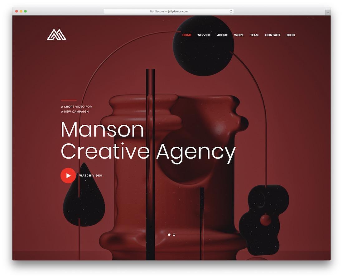 manson beautiful wordpress theme