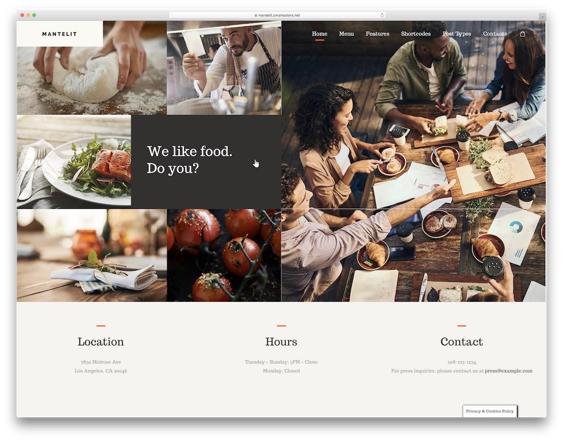 mantelit food delivery wordpress theme