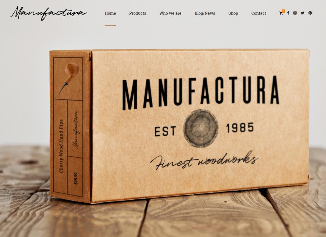 Manufactura   Handmade Crafts, Artisan, Artist WordPress Theme