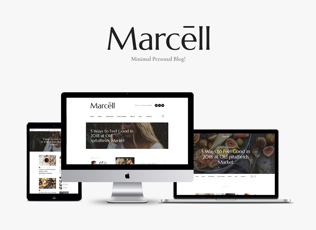 Marcell - 20+ Layouts Multi-Concept Personal Blog & Magazine WordPress Theme