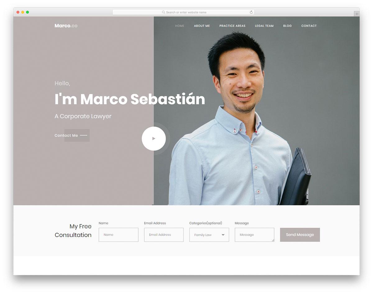 Скачать бесплатно html шаблон Marco 2