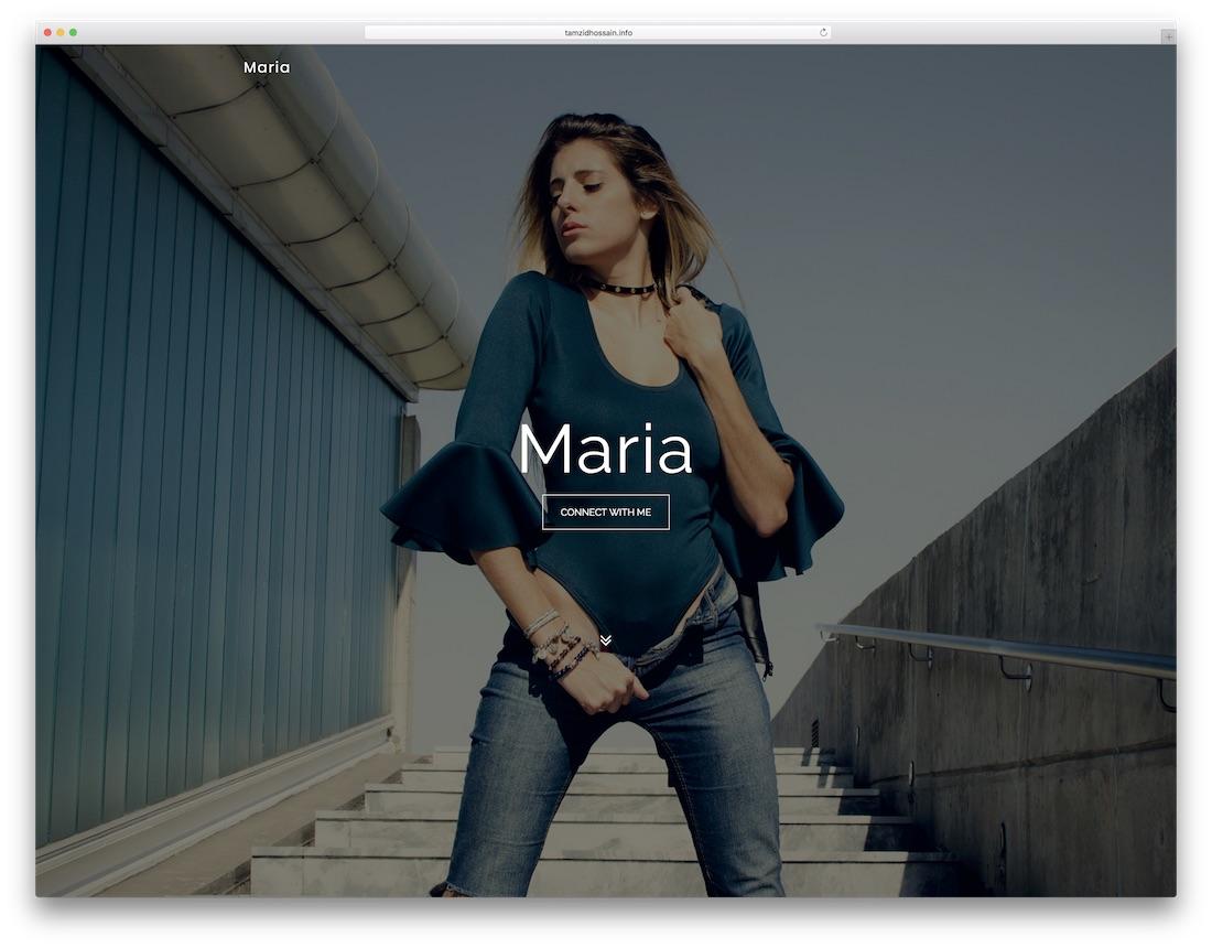 maria artist website template