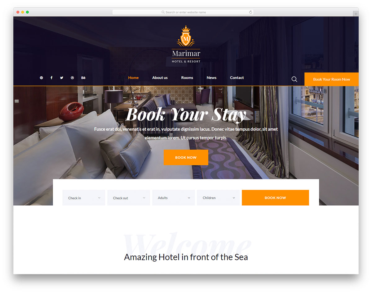 Most Popular Free Hotel Website Templates 2019
