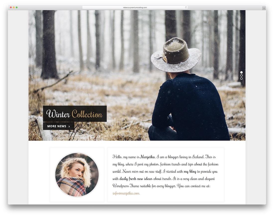 marjetka feminine wordpress theme