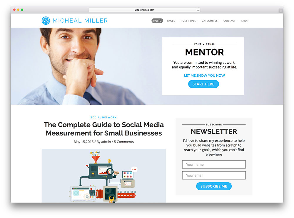 marketing blog - corporate theme