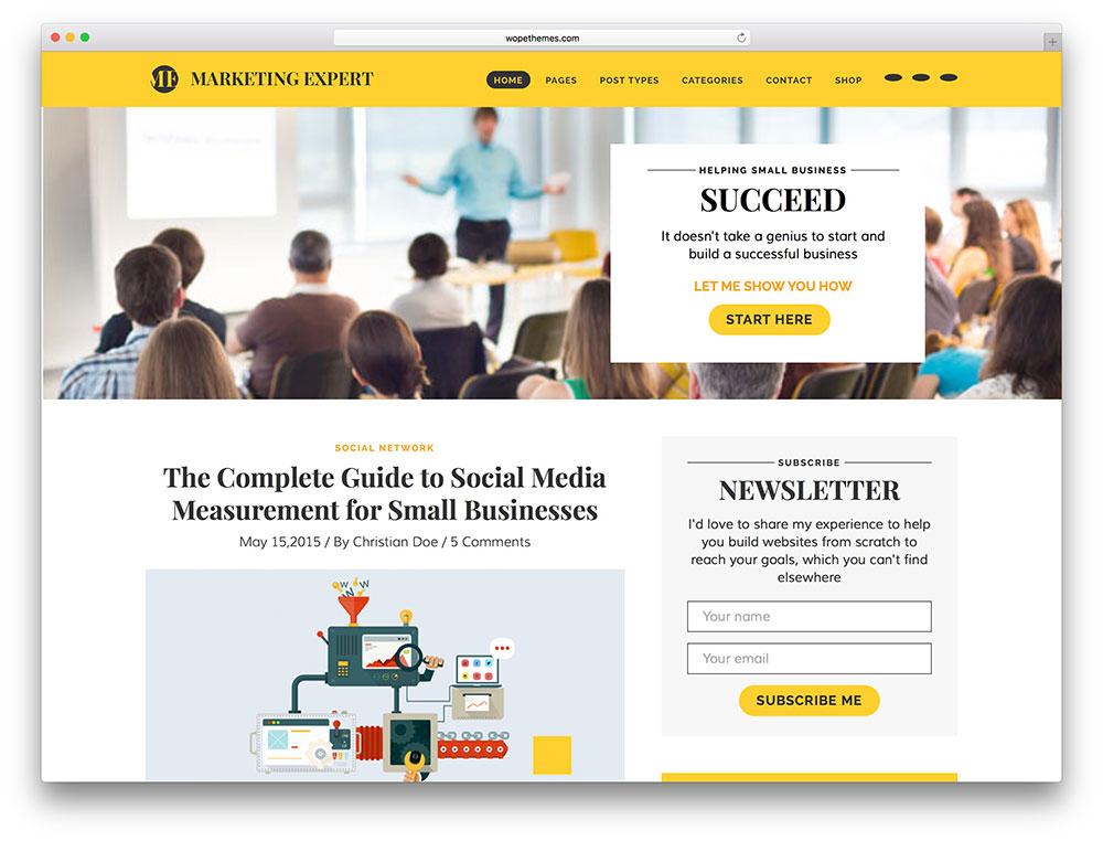 marketing expert WordPress theme