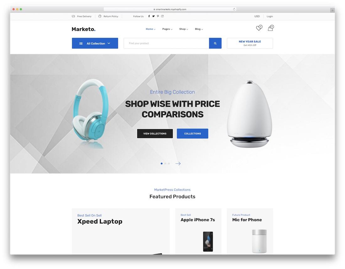 marketo shopify technology theme