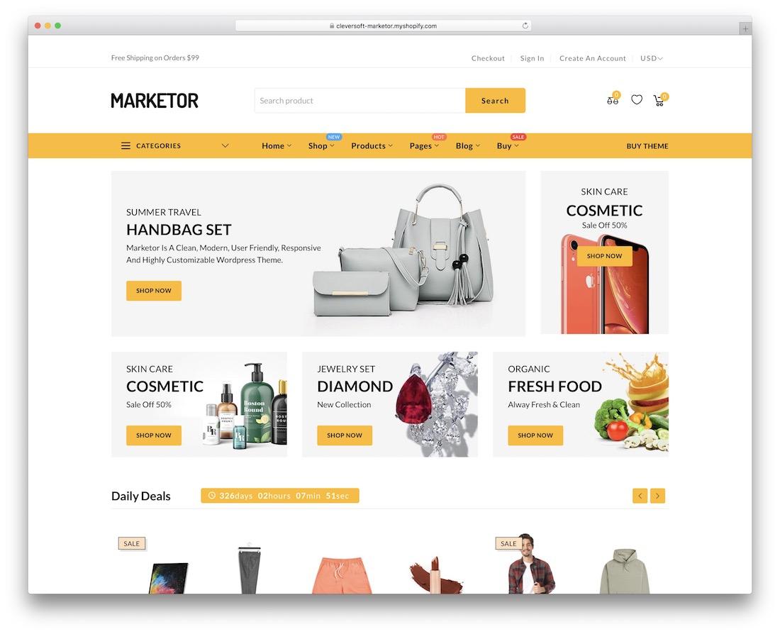 marketor shopify technology theme