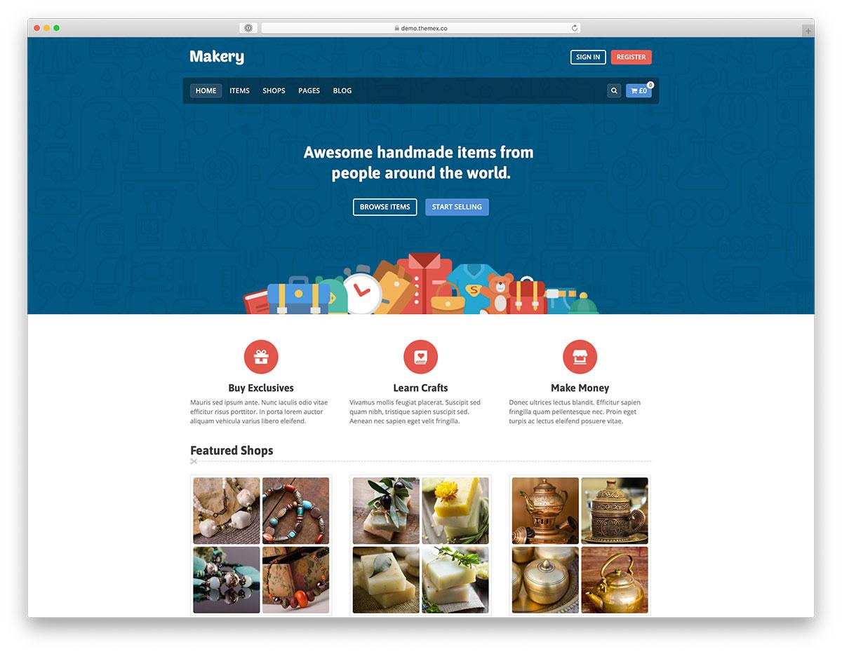 marketplace website design