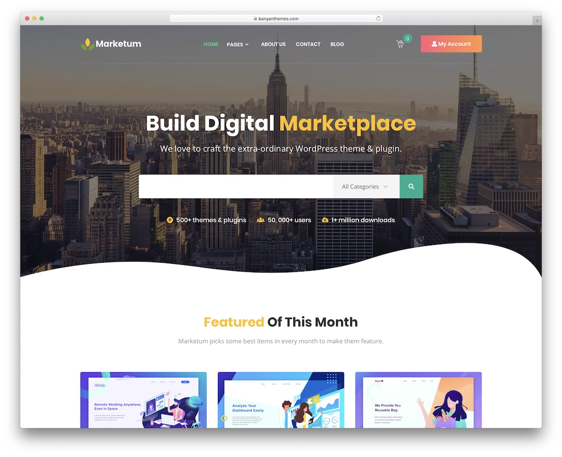 marketum wordpress theme selling digital products