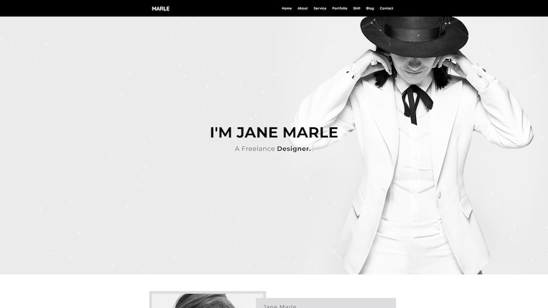 marle graphic design website template