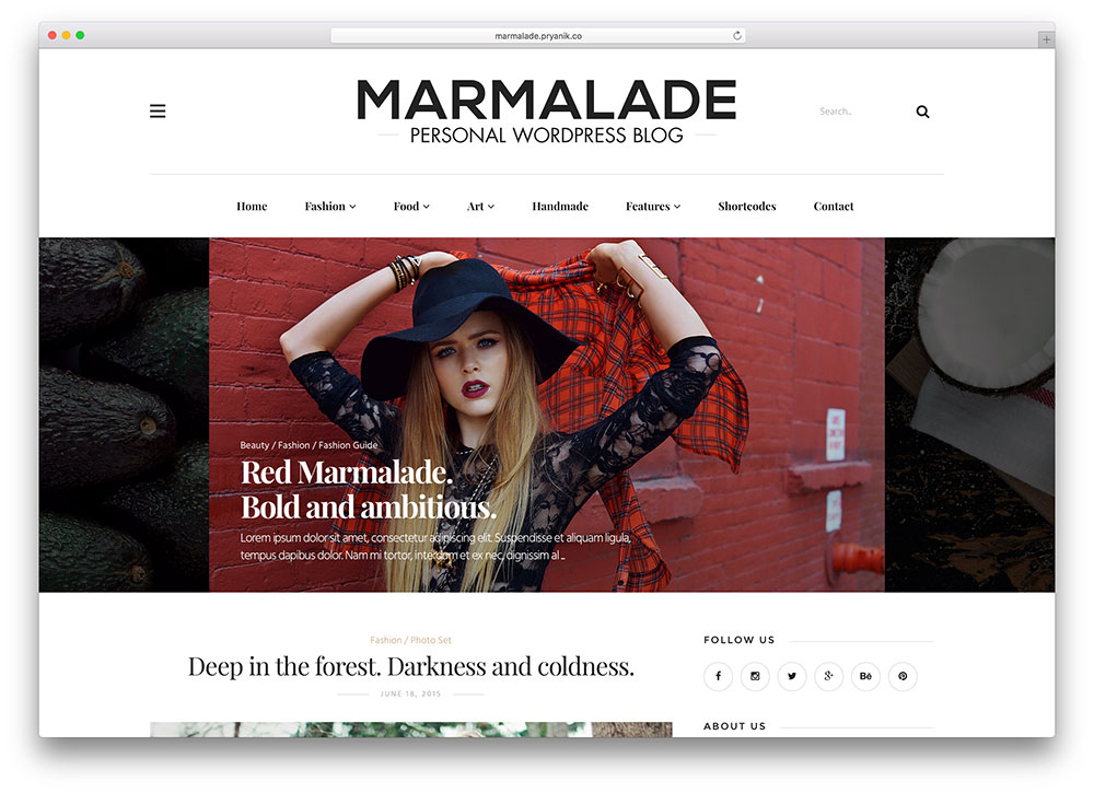 marmalade-personal-wordpress-blog-theme