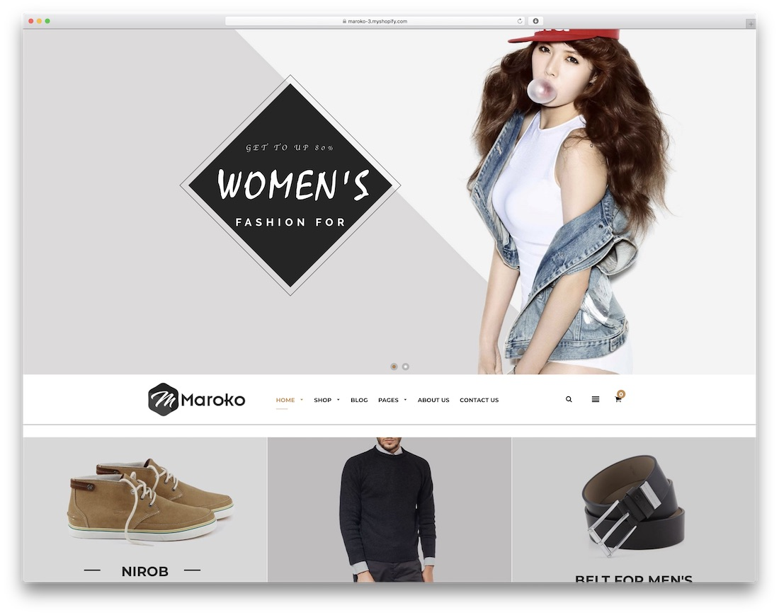 maroko best shopify theme