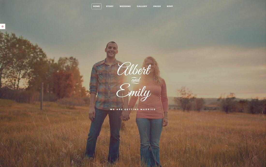 marry HTML wedding website template