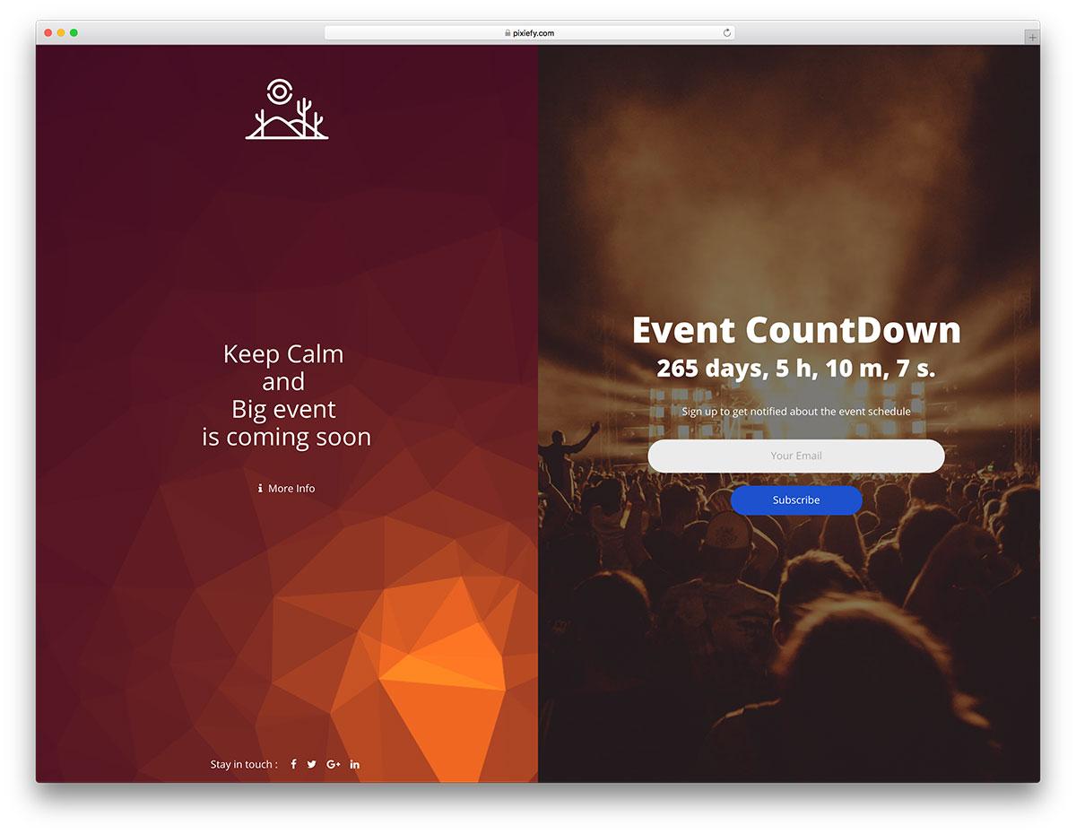 25 Best Coming Soon HTML5 Website Templates 2019 - Colorlib