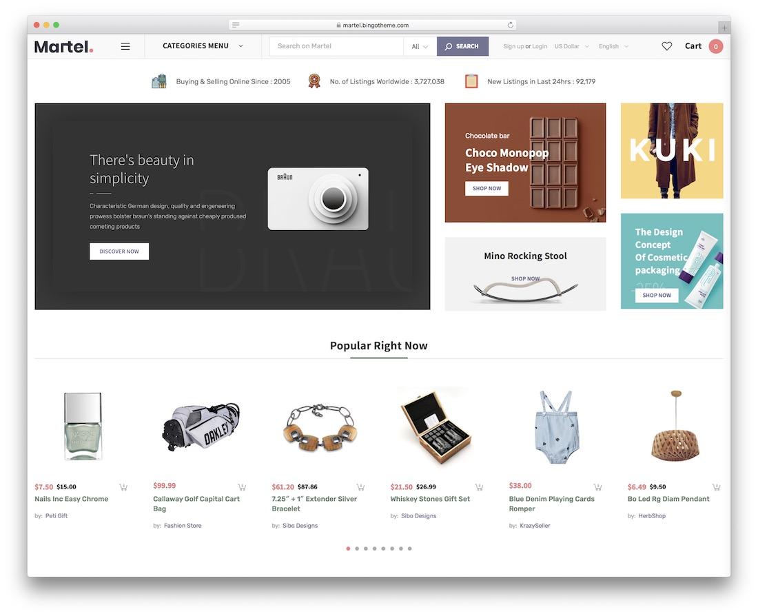 martel marketplace wordpress theme