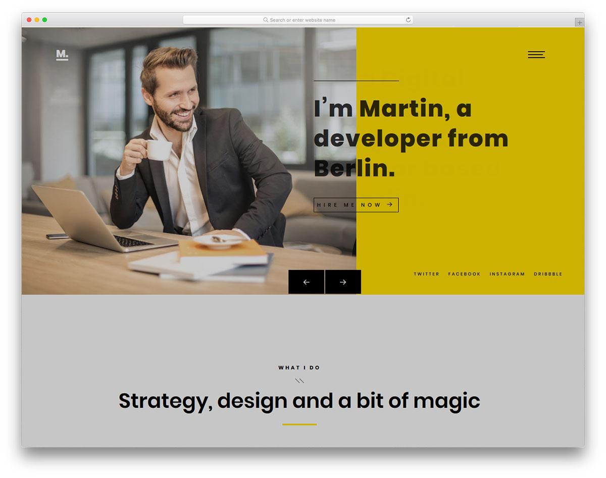 Скачать бесплатно html шаблон Martin