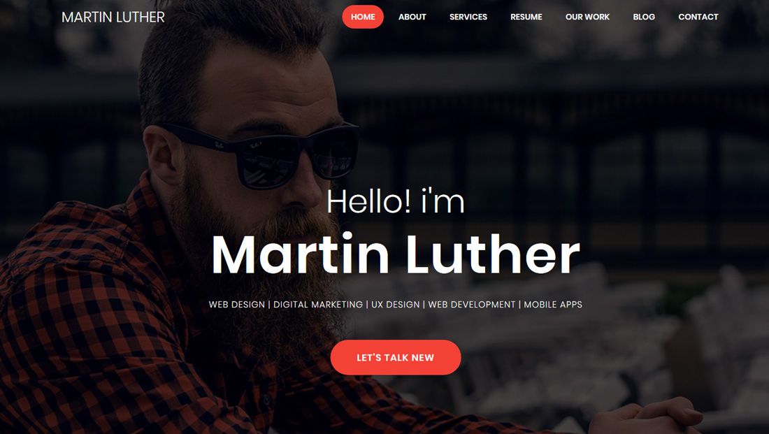 martin-luther-bootstrap-personal-website-templates