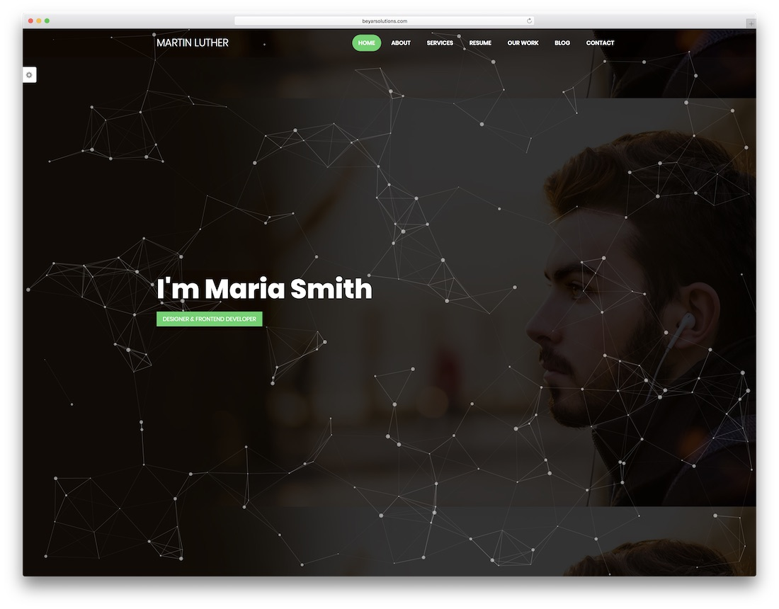 martin luther graphic design website template