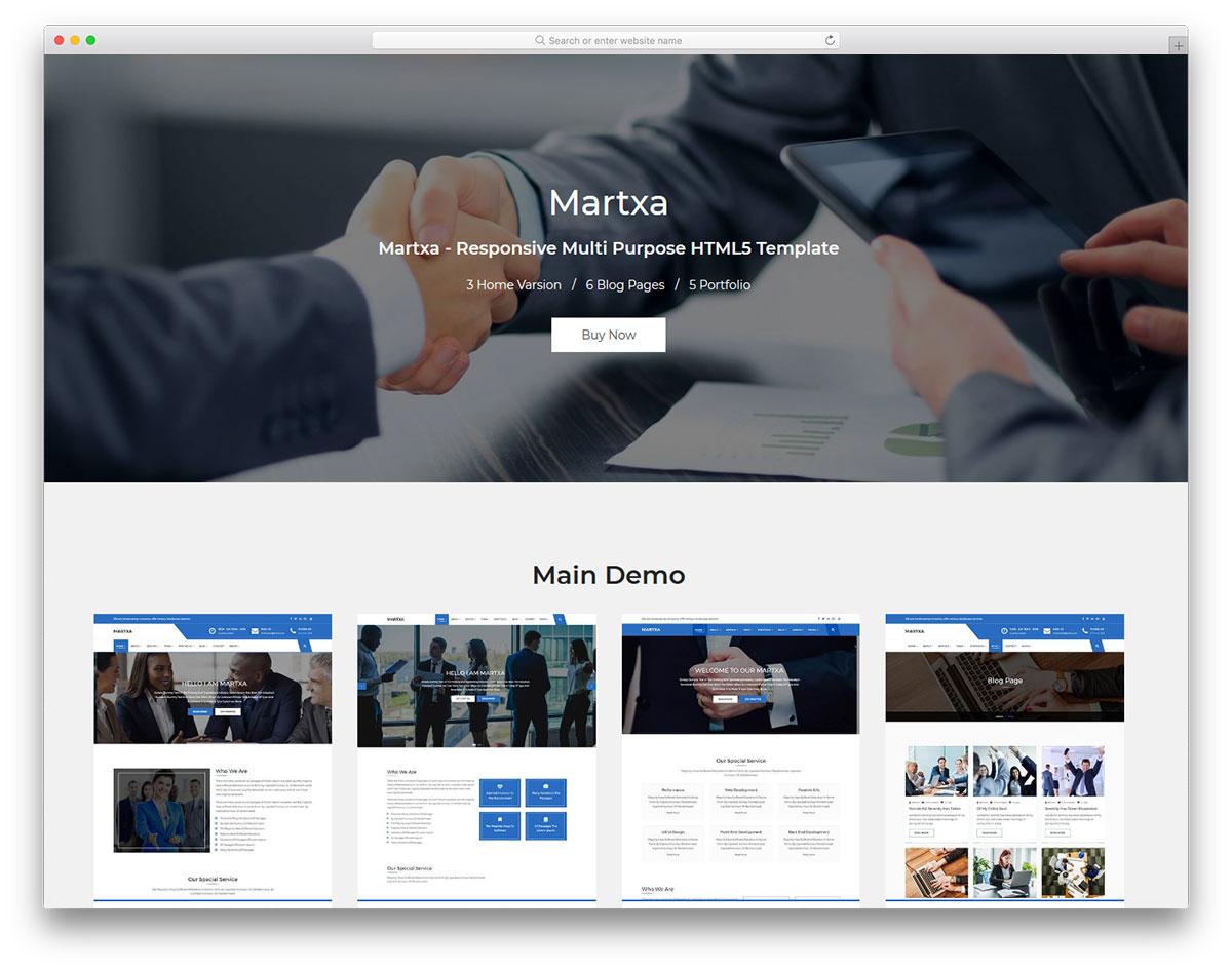 Скачать бесплатно html шаблон Martxa