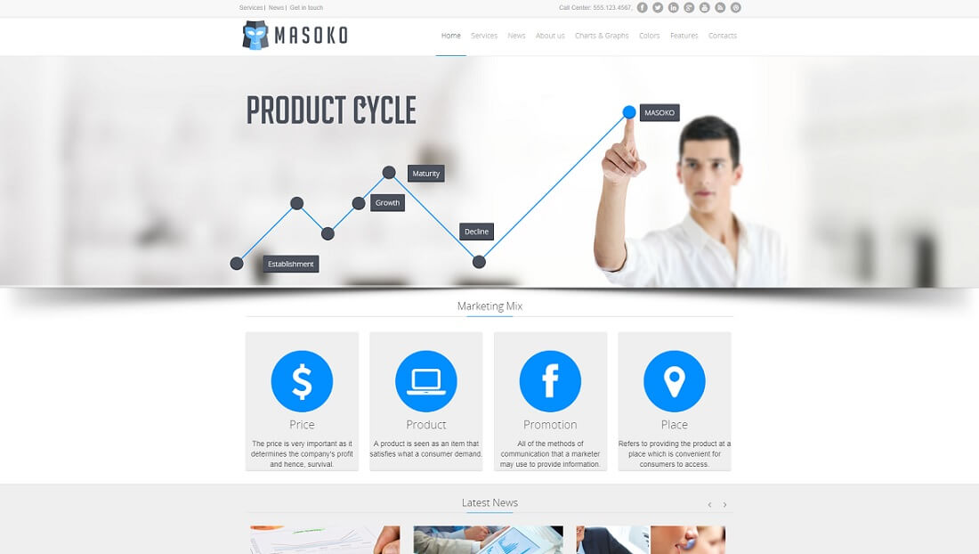 masoko joomla business template