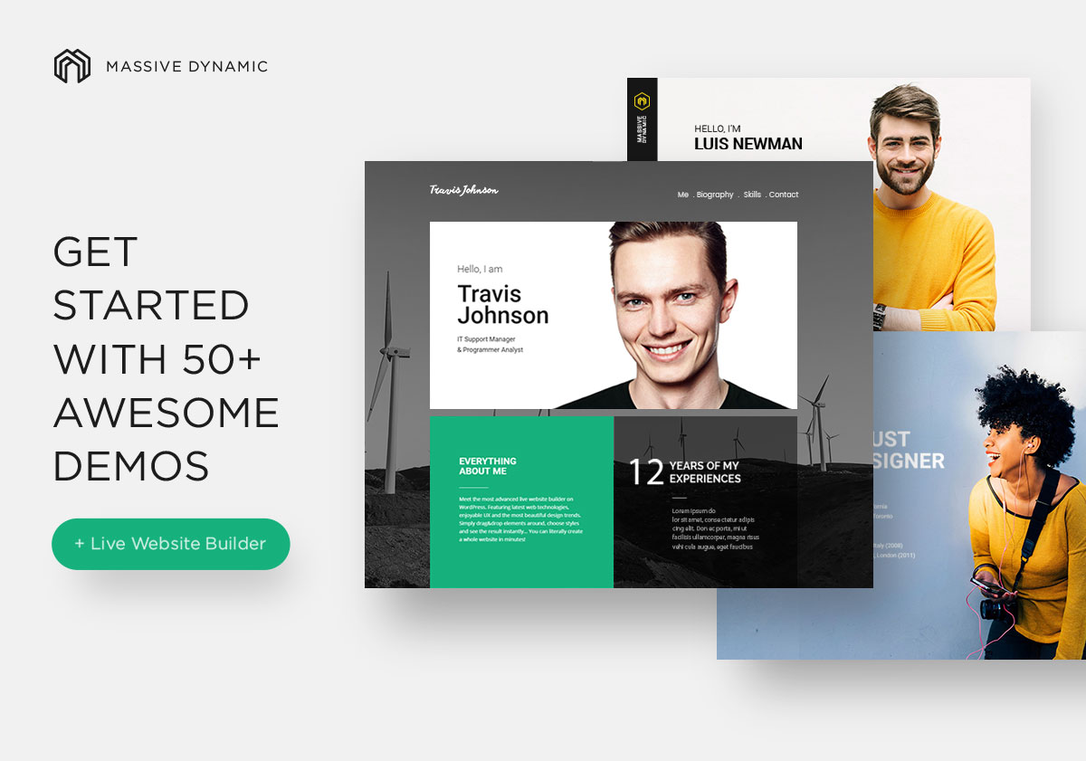 30 Best vCard WordPress Themes 2017 For Your Online Resume Colorlib – Online Resume Website Examples