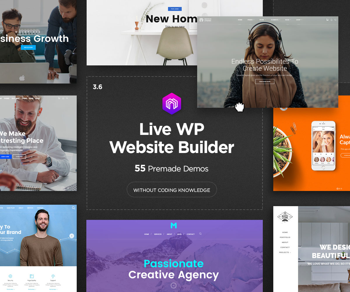 Moder WordPress theme