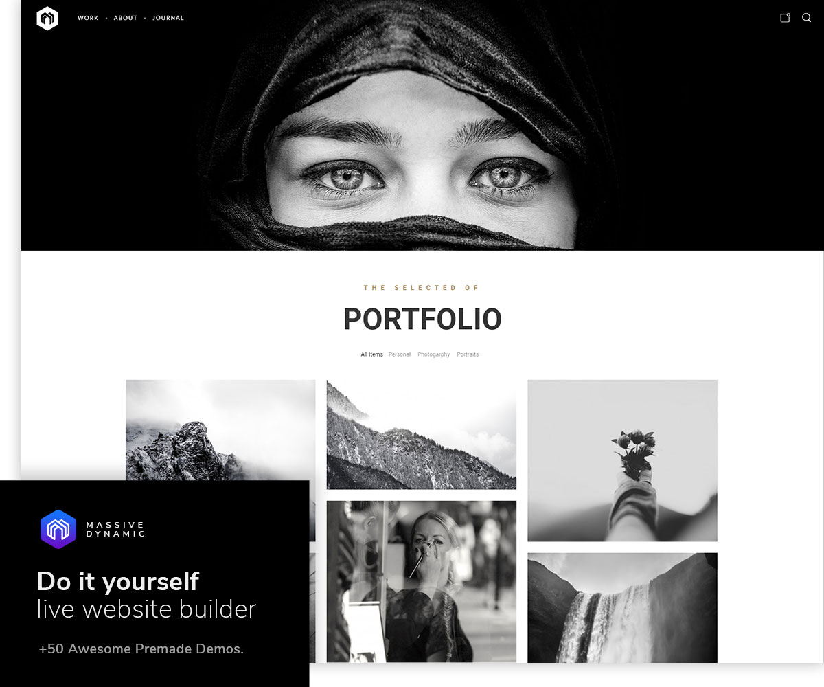 Massive Dynamic is a purposeful and professional, image-centric and imaginative, colorful and canderous natively responsive WordPress creative multipurpose ...