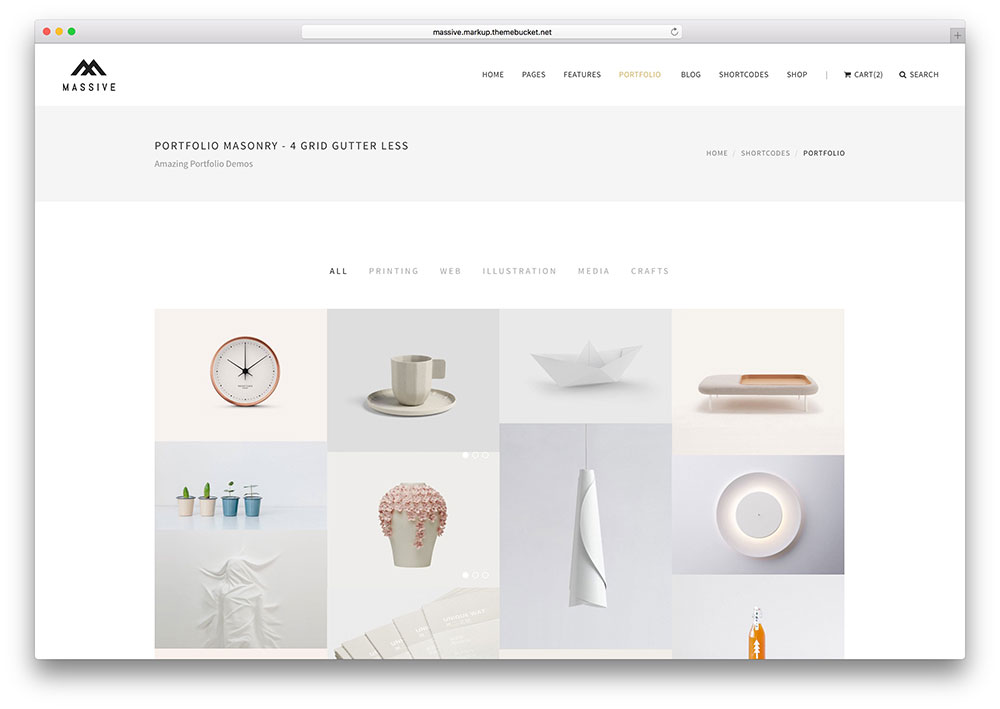 massive minimal portfolio html5 website template
