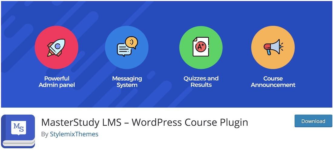 masterstudy lms wordpress plugin