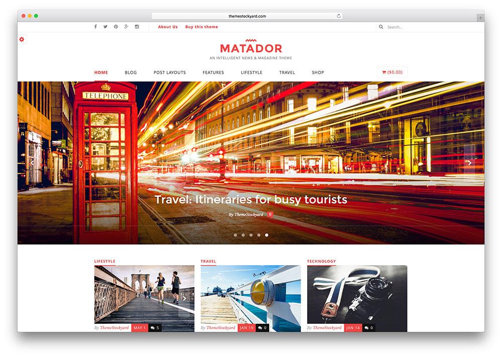 matador-creativr-magazine-style-theme