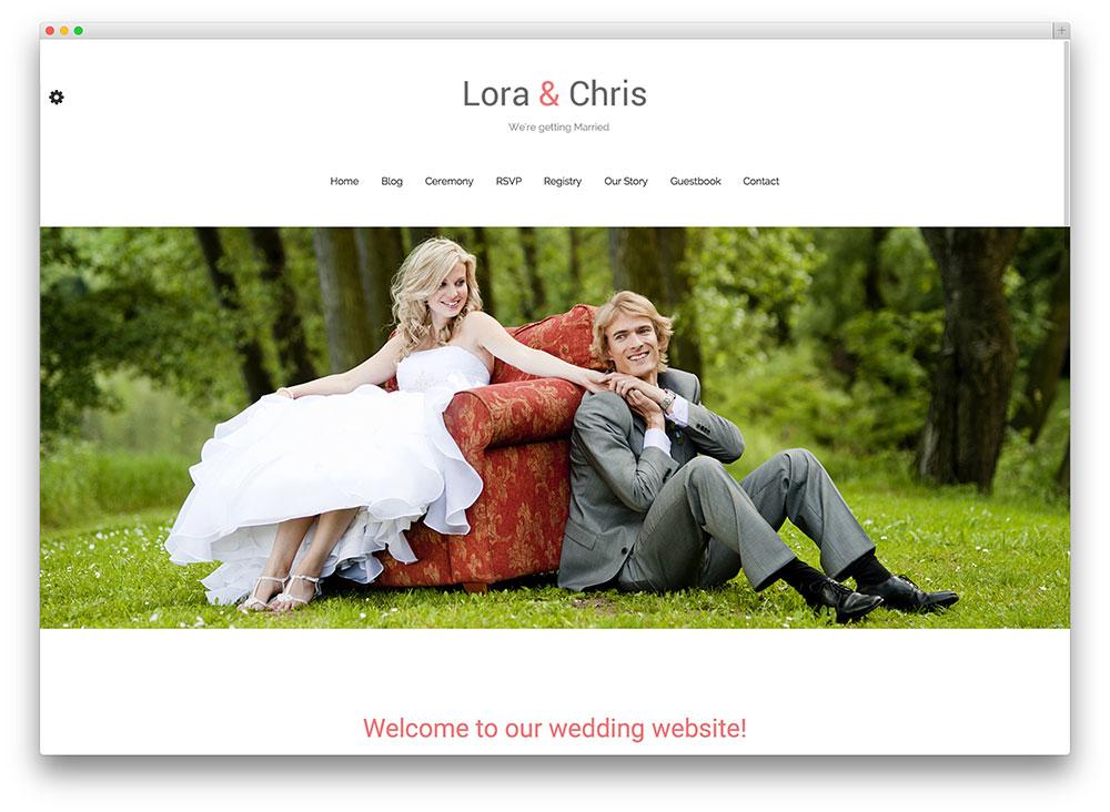 20+ Beautiful and Free WordPress Wedding Themes 2017 - Colorlib