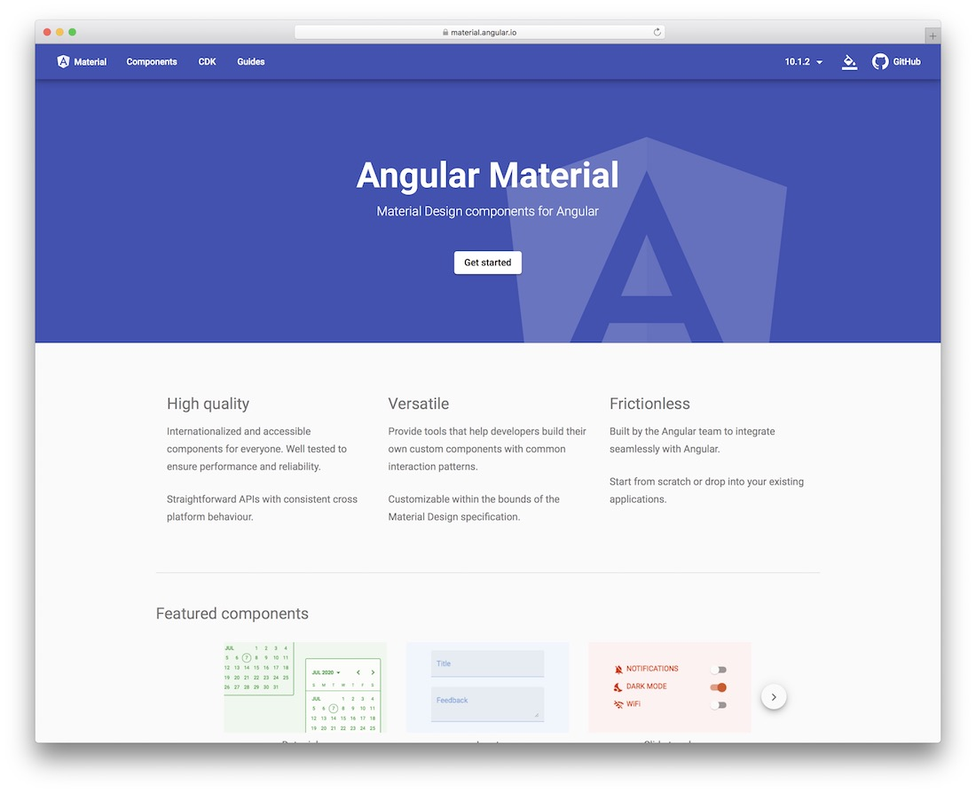 material design for angular 2