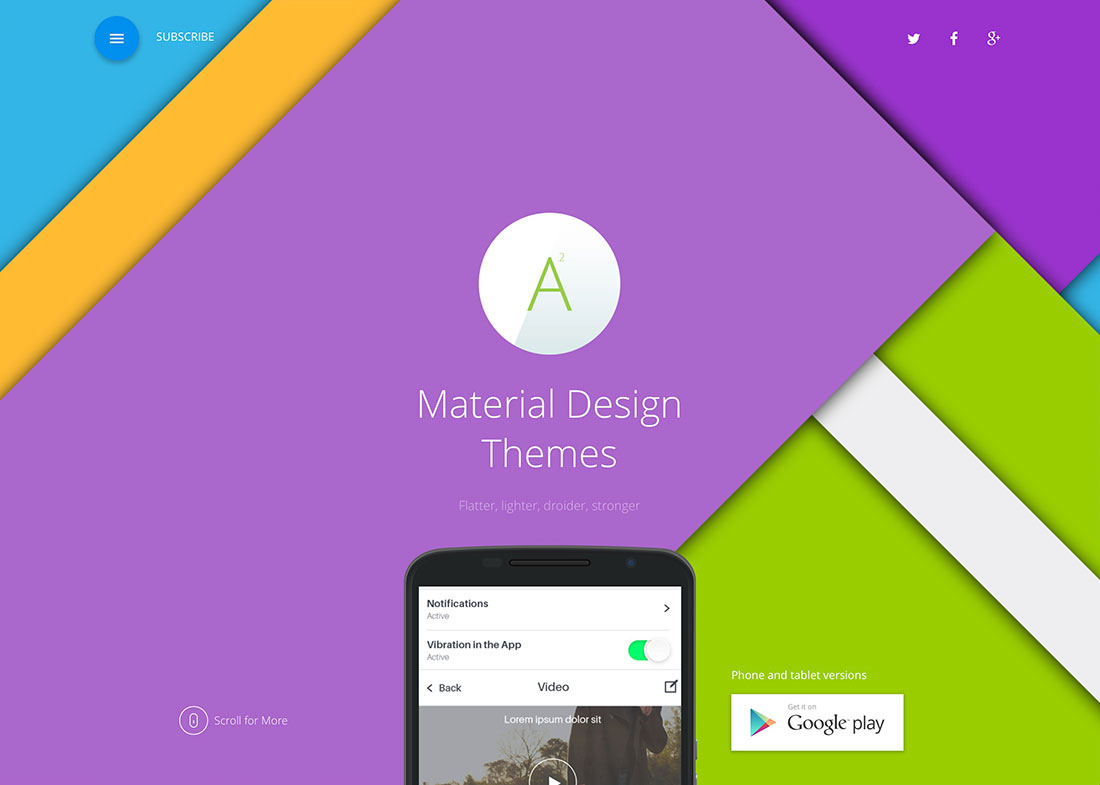 20 Awesome WordPress Material Design Themes For Landing Pages, Corporate Websites And Blogs – 2017