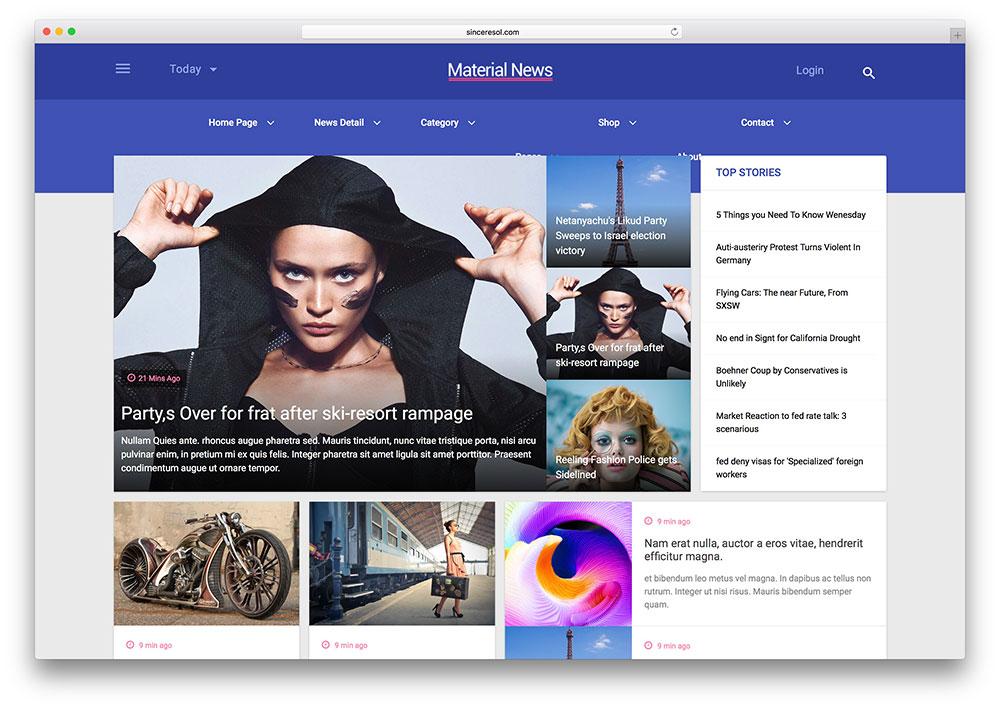 Free Web Template Magazine Ecommerce 2018