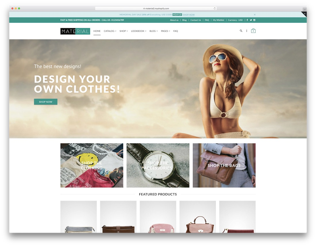 material fashion shopify theme