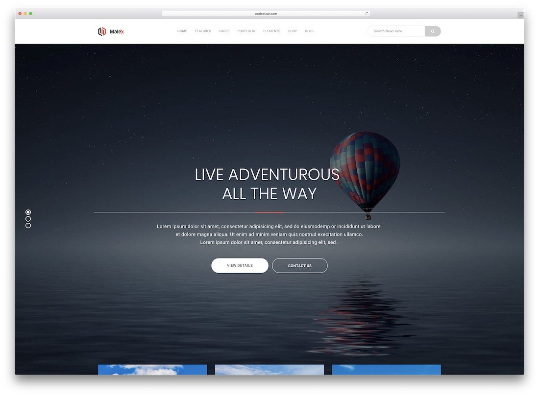 matex travel website template